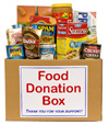 Donation box full of food