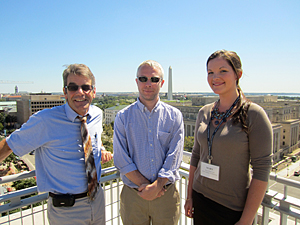 Christopher Weis, Ph.D., Eric Saunders, and Mary Popovech