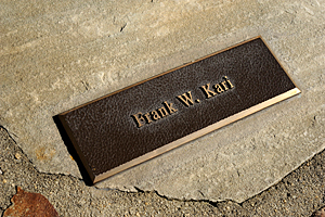 Frank Kari memorial plaque in NIEHS's wall of memory