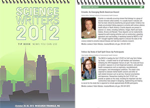 Science Writers 2012 booklet