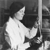 Ida Bengtson, Ph.D., in the PHS Hygienic Laboratory (1916)