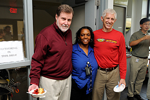 Samuel Wilson, M.D., Lakisha Register, and Tom Kunkel, Ph.D.