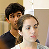 College students involved in a summer program at Duke University's Research Experience for Undergraduates (REU) program