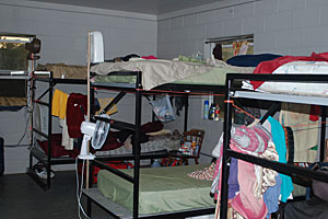 Photo showing inside of a farmworker housing