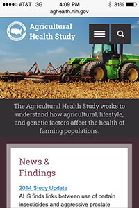 Agricultural Health Study mobile site