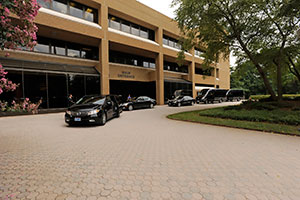 Limousines in front of the NIEHS main building