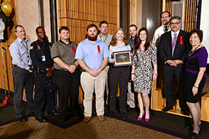 The Data Center Restoration Group holding their award