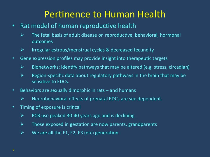 Pertinence to Human Health
