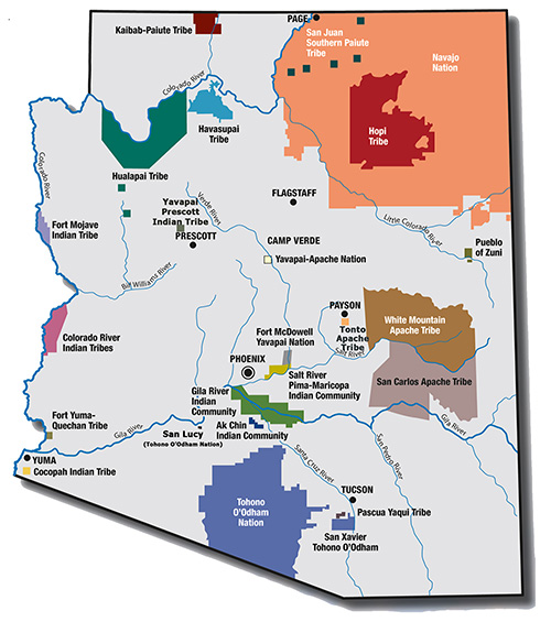 Tribal lands in Arizona