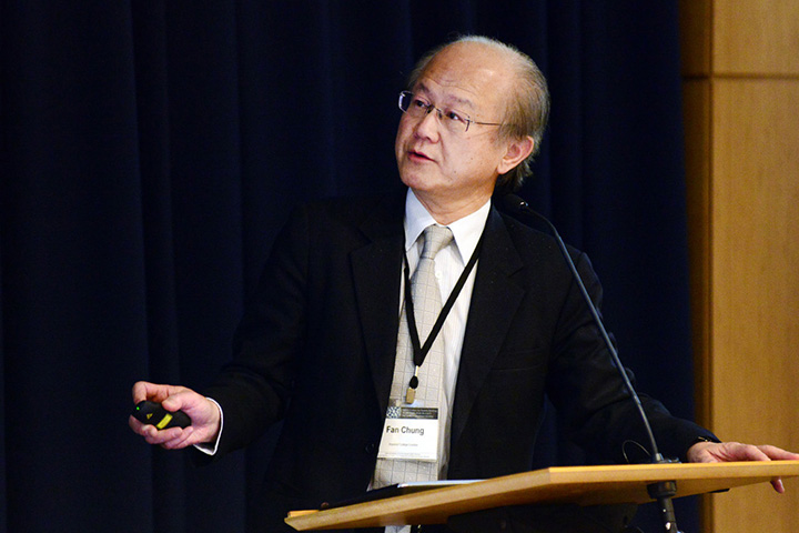 Chung giving a presentation