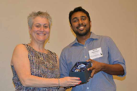 Gwen Collman, Ph.D. and Nishad Jayasundara