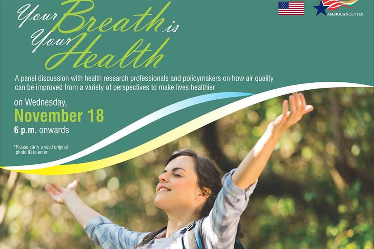 Poster for Nadadur's keynote address - Your Breath is Your Health