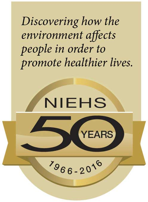 NIEHS 50 years - 1966-2016 : Discocering how the environment affects people in order to promote healthier lives