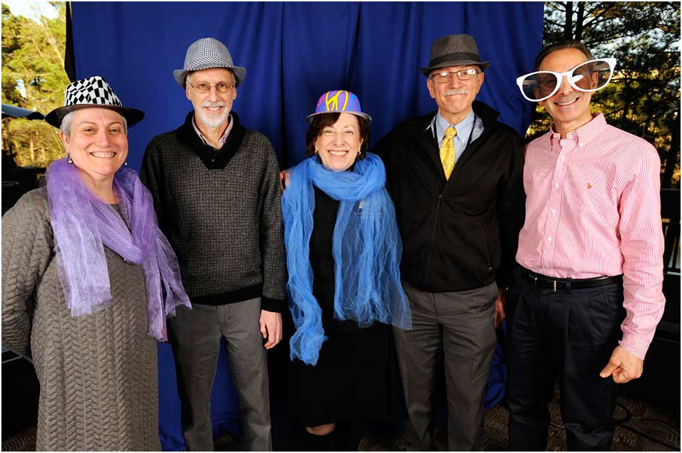 Gwen Collmn, Ph.D., John Bucher, Ph.D., Linda Birnbaum, Ph.D., Rick Woychik, Ph.D., and Darryl Zeldin, M.D. standing for a fun group photo