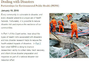 Screenshot of Dealing with Disasters