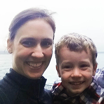 Katie Pelch and her son