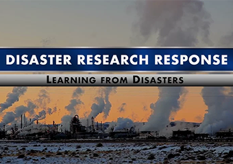 "Watch ""Disaster Research Response: Learning from Disasters"" to learn more about integrating research into emergency response during disasters, such as storms, chemical spills, or major accidents in this NIEHS video. (8:28)"