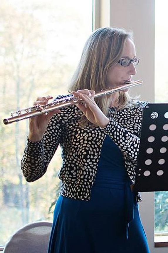 Laura Thomas playing flute