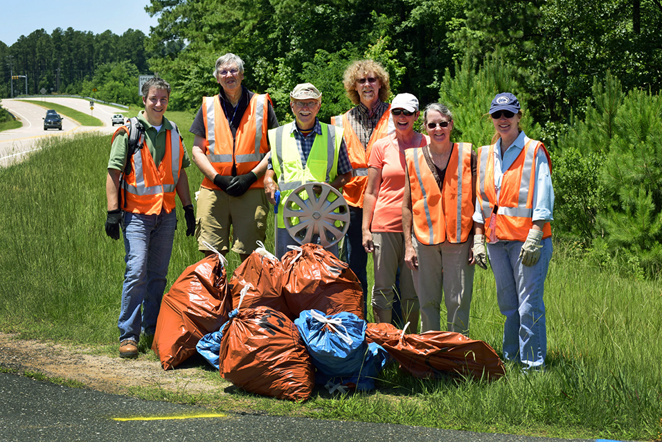 NIEHS cleanup team photo on Hopson Road