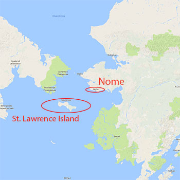 Map of St. Lawrence Island
