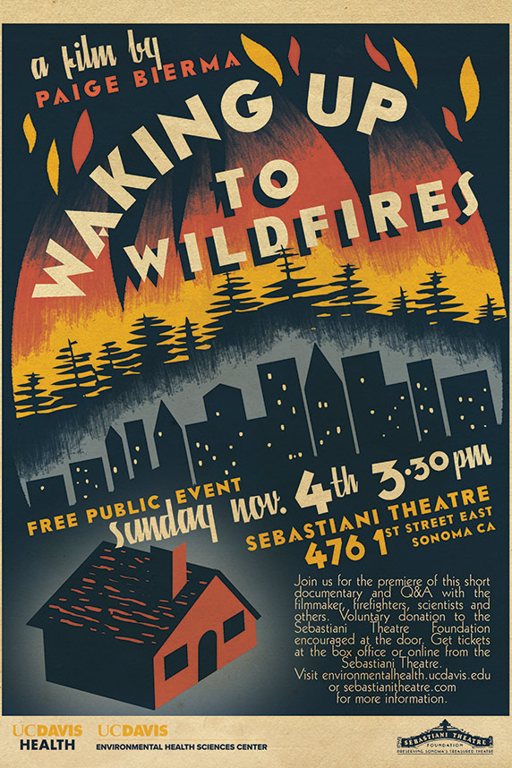 """Waking Up to Wildfires"" poster"