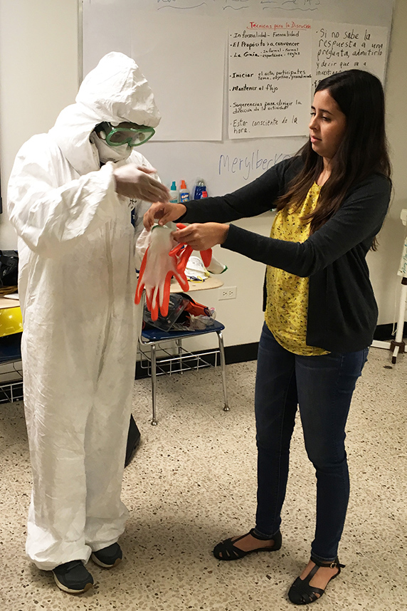 upr student learning safety suits