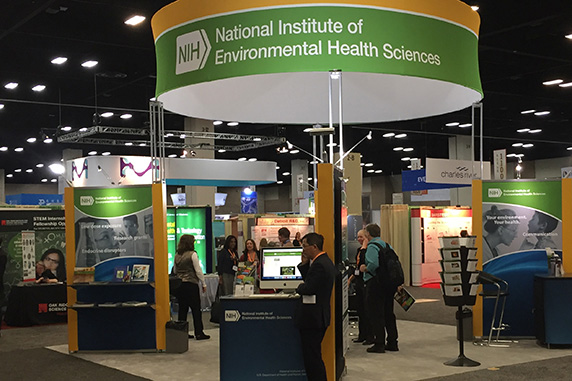 booth for NIEHS, NTP, and Environmental Health Perspectives