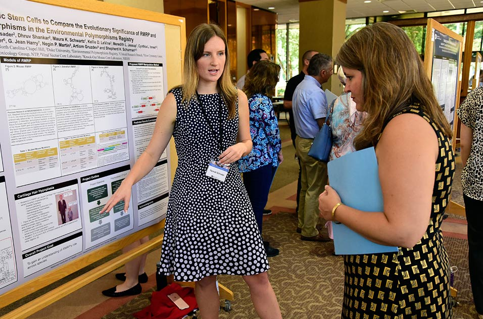 Hannah Schrader discusses her poster and work