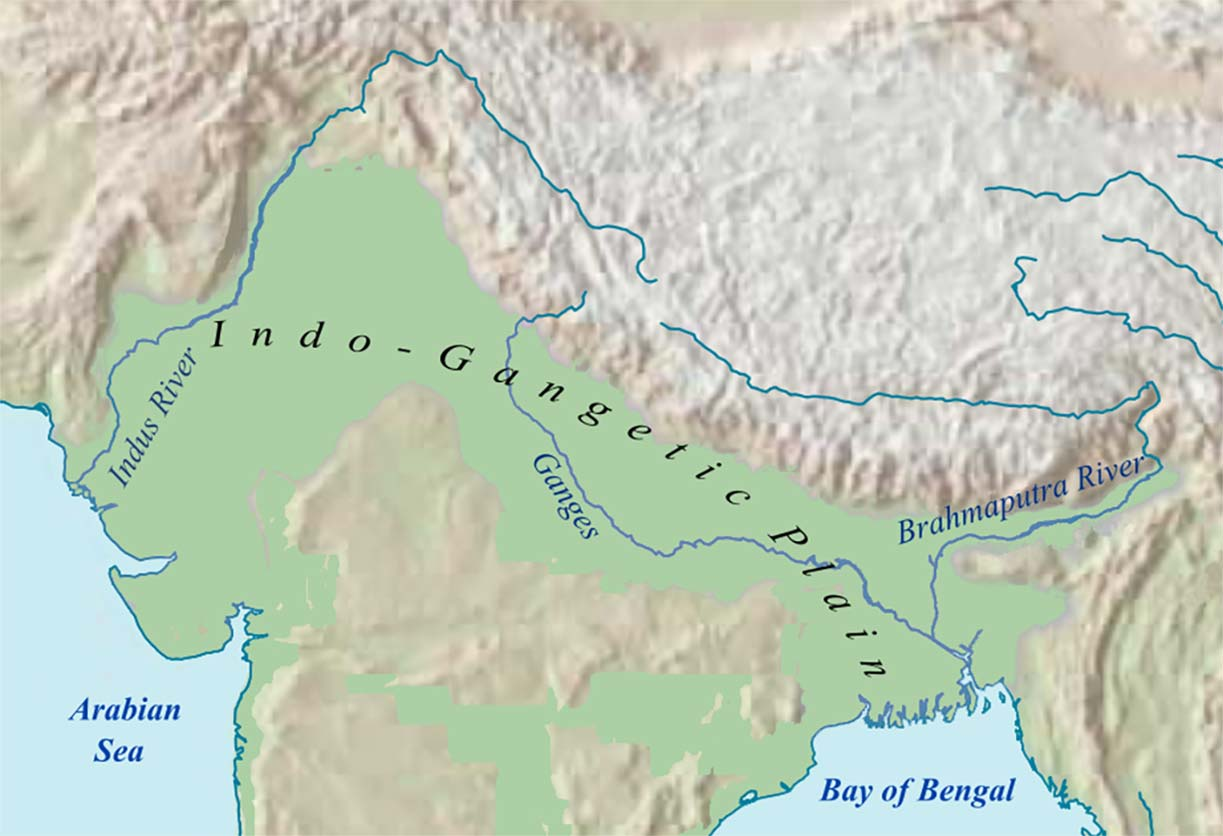 map of the Indo-Gangetic Plain