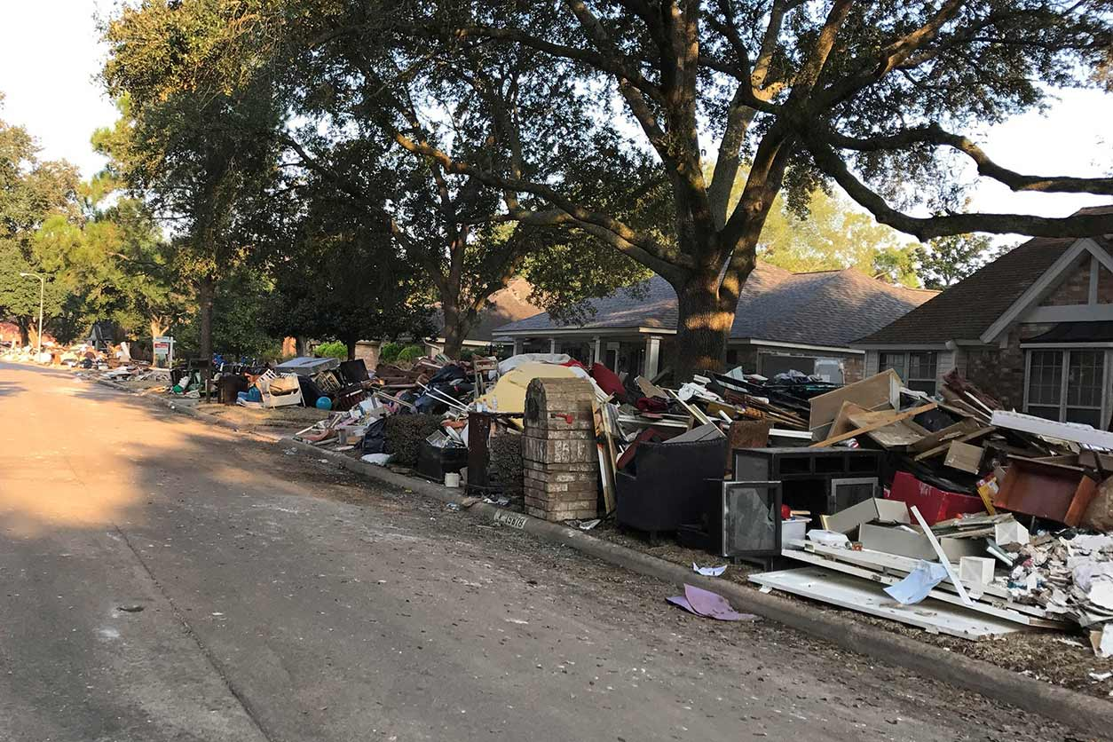 street view in Houston after Hurricane Harvey