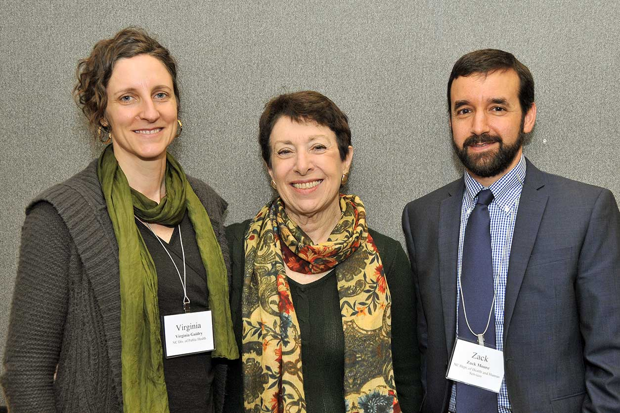 Director Linda Birnbaum, Ph.D. with Virginia Guidry, Ph.D. and Zack Moore, M.D.