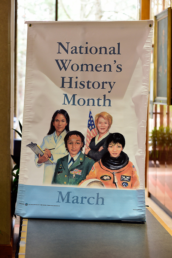 National Women's History Month-March sign