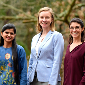 Chitrangda Srivastava, Ph.D., Katelyn Lavrich, Ph.D., and Bevin Blake