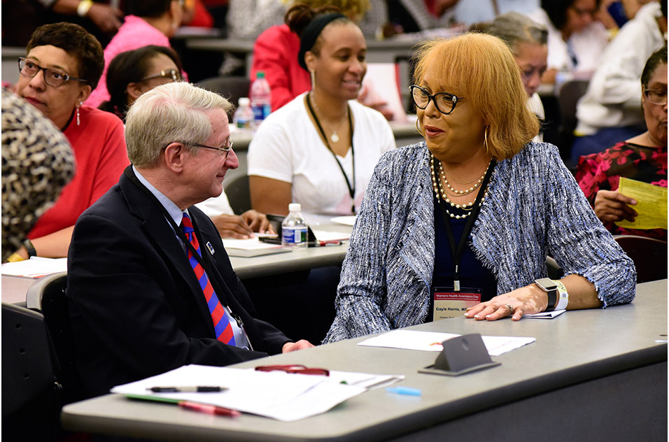 Durham Mayor, Steve Schewel and Gayle Harris, Durham County Department of Public Health