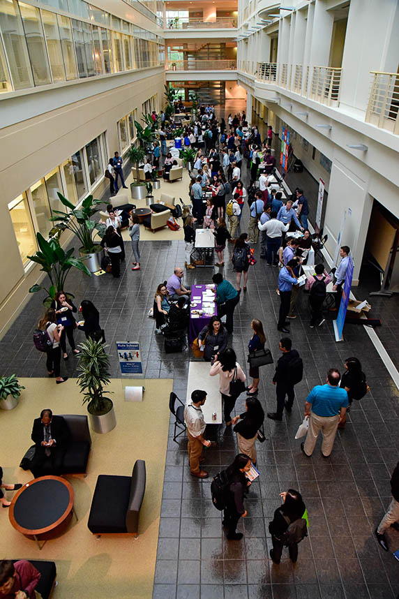 Overview shot of the networking event