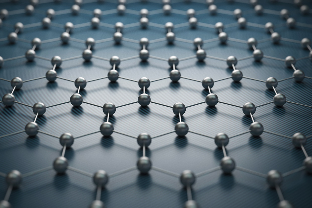 graphene, shown in an artistic rendering