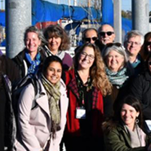 group of people from boat tour of the Duwamish River