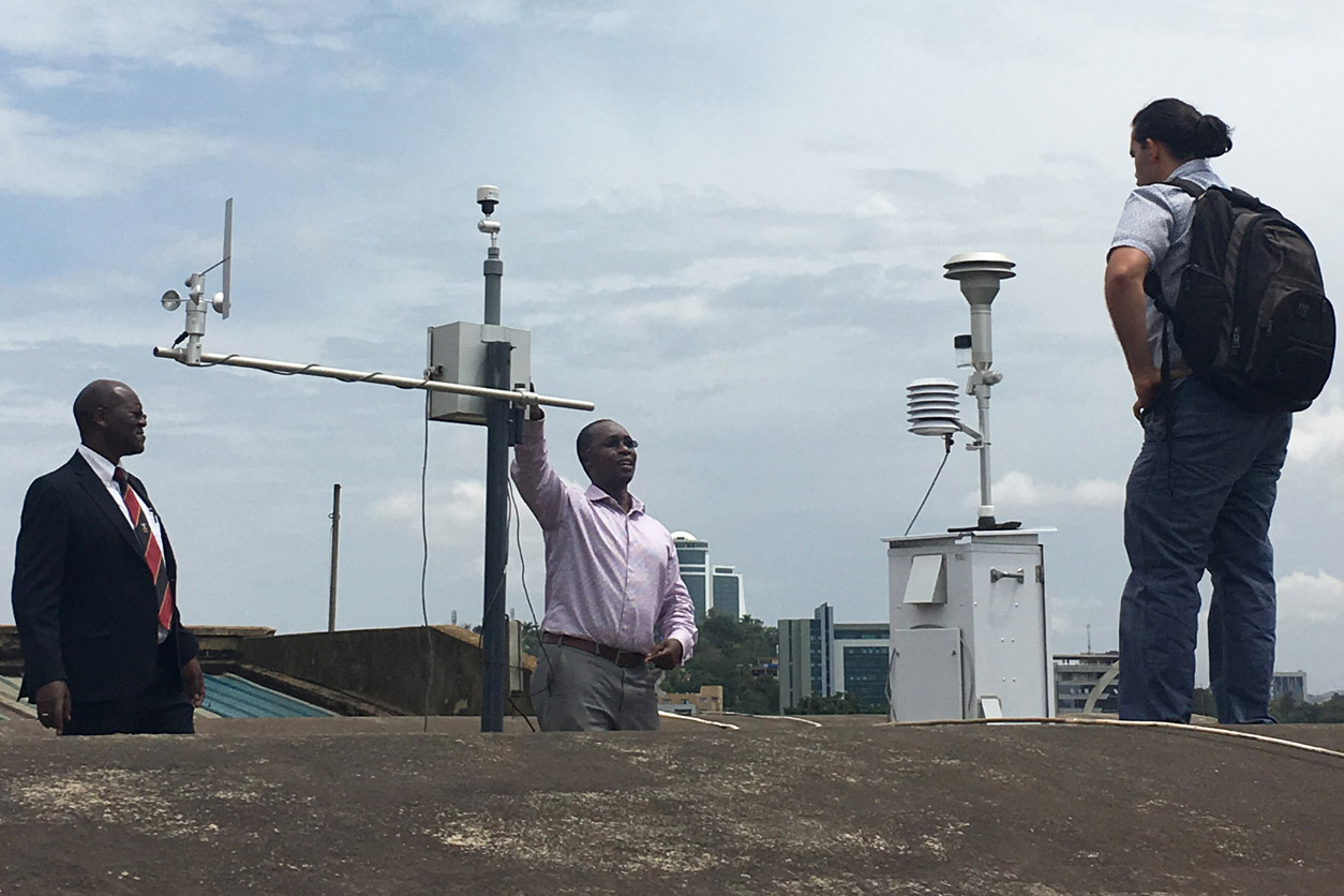 air monitoring equipment, Makerere School of Public Health