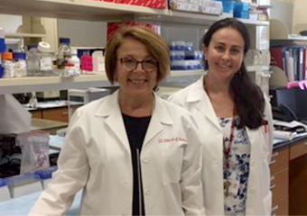 Dr. Anna Maria Storniolo and Dr. Natascia Marino at Susan G Komen Tissue Bank