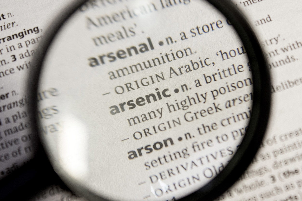 Maginifier class over dictionary word arsenic