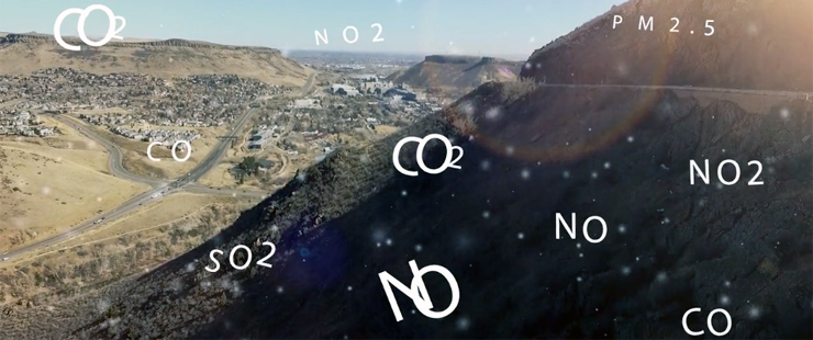 labeled air particles in landscape